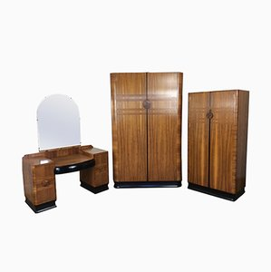 Art Deco Bedroom Set, 1930s
