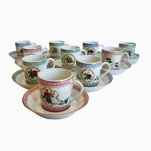 Juego de tazas Antique Empress Josephine Demitasse Collection de Haviland. Juego de 10