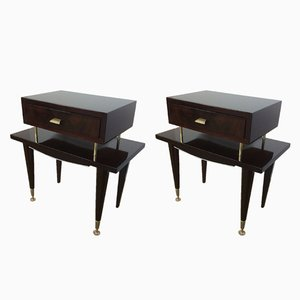 Mid-Century Bedside Cabinets from Ameublement NF, 1960s, Set of 2