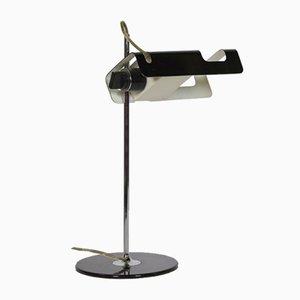 Schwarze Spider 291 Schreibtischlampe von Joe Colombo für Oluce, 1960er