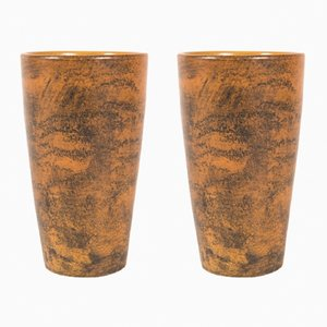 Enameled Ceramic Cups by Jacques Blin, 1960s, Set of 2