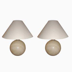 Lampes en Marbre par Angeletti, Italie, 1970s, Set de 2