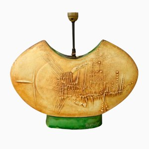 Lámpara de mesa de Gilbert Portanier para Vallauris, años 50