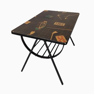 Italian Occasional Table with Magazine Rack, 1950s