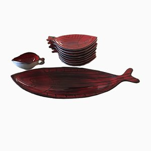 French Fish Tableware Set, 1960s