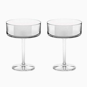 Bicchieri da cocktail nr. II in cristallo fatti a mano di Scholten & Baijings per J. HILL's Standard, Irlanda, set di 2