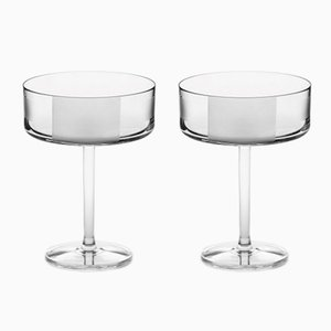 Irish Handmade Crystal No II Cocktail Glasses by Scholten & Baijings for J. HILL's Standard, Set of 2