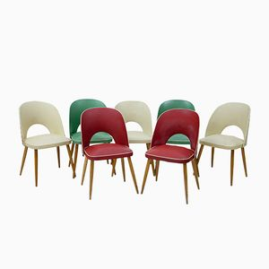 Italienische Beistellstühle, 1960er, 7erSet