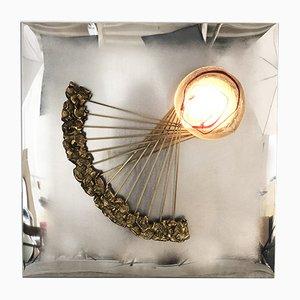 Lampada da parete scultorea di Angelo Brotto per Esperia, anni '70