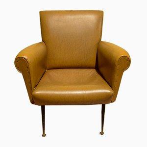 Italian Leatherette Armchair, 1960s