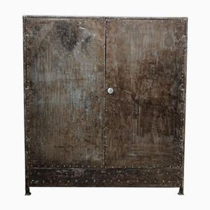 Vintage Industrial Riveted Cabinet