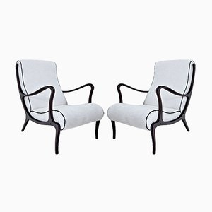Italian Armchairs by Ezio Longhi, 1950s, Set of 2