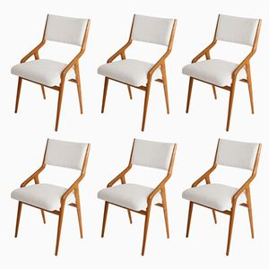 Mid-Century Italian Dining Chairs, Set of 6