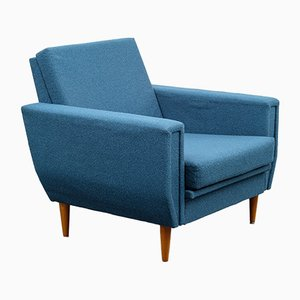 Petrol Blue Lounge Chair, 1960s
