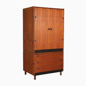 Italian Teak Veneer & Formica Cabinet, 1960s
