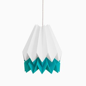 Caribbean Blue Origami Lamp by Orikomi