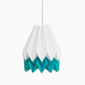 Lampe Origami Bleu Lagon par Orikomi