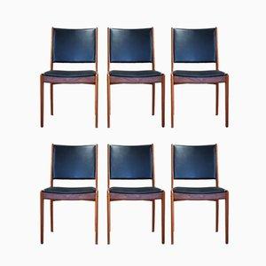 Esszimmerstühle aus Teak von Johannes Andersen für Uldum Mobelfabrik, 1960er, 6er Set