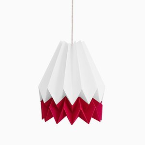 Lámpara Origami en rojo fresa de Orikomi