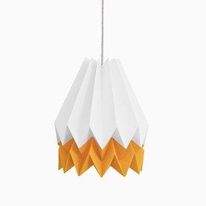 Lampe Origami Jaune Mangue par Orikomi