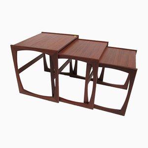 Tavolini ad incastro vintage in teak