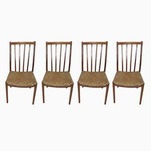 Vintage Esszimmerstühle aus Teak, 4er Set