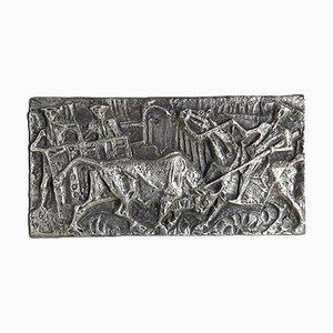 Sculpture en Laiton Bas Relief par Luigi Ferretti, 1960s