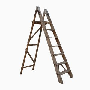 Mid-Century Wooden Painter Ladder