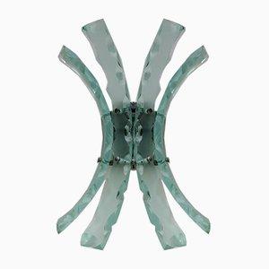 Aplique de vidrio de 04 para Fontana Arte, años 60