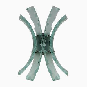 Glass Sconce by 04 for Fontana Arte, 1960s
