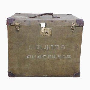 Valigia antica dell'esercito inglese