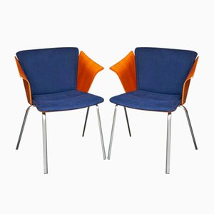 Vintage VM 3 Armchairs by Vico Magistretti for Fritz Hansen, Set of 2