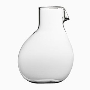 Niedrige Dodò Karaffe aus durchsichtigem glattem Glas von Matteo Cibic für Paola C., 2018