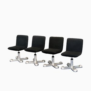 Swivel Chairs by Perry King & Santiago Miranda for Planula, 1970s, Set of 4