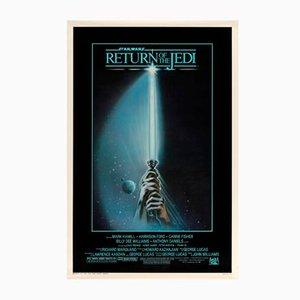 Póster estadounidense de la película Star Wars: Return of the Jedi de Tim Reamer, 1983