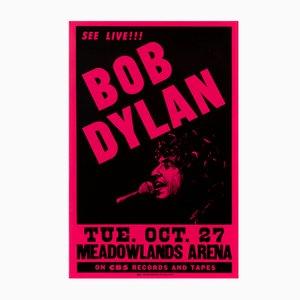 Póster promocional de concierto americano de Bob Dylan, 1981