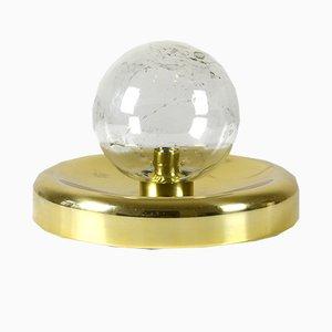 Lampada da tavolo in vetro a bolle di Doria Leuchten, anni '60