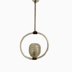 Lampada a sospensione vintage in vetro di Murano di Barovier & Toso