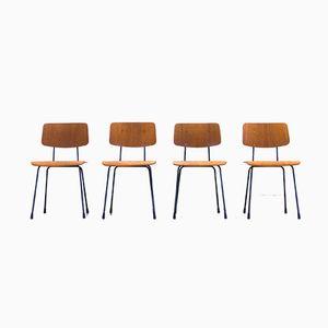 Vintage Modell 1262 Esszimmerstühle von André Cordemeyer für Gispen, 4er Set