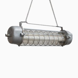Vintage Cylindrical Industrial Lamp