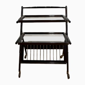 Mahogany Bar Trolley by Cesare Lacca for Cassina, 1950s