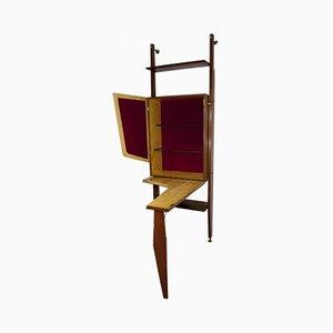 Mueble bar Mid-Century con tablero plegable, años 60