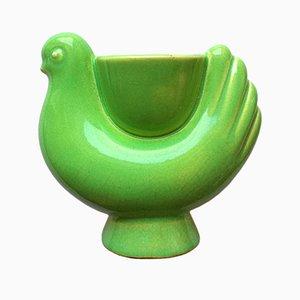 Keramikgefäß in Vogel-Optik von Primavera, 1920er
