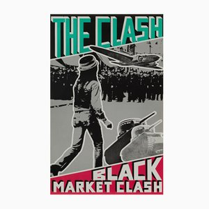 Affiche Promotionnelle The Clash : Black Market Clash, États-Unis, 1980