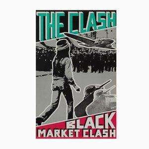 Póster promocional estadounidense de The Clash: Black Market Clash, 1980