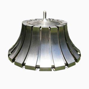 Lámpara colgante de acero de Elio Martinelli para Martinelli Luce, años 70
