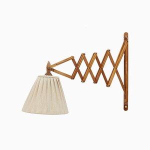 Lampada Mid-Century regolabile in legno
