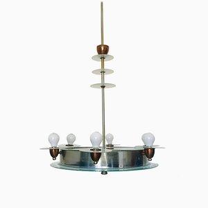 Lámpara de araña italiana Mid-Century, años 60