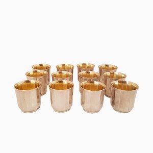 Gobelets à Liqueur en Argent Plaqué de Christofle, 1930s, Set de 12