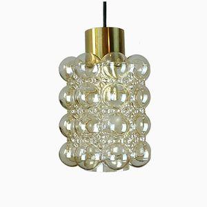 Lampe à Suspension Vintage avec Bulle de Verre par Helena Tynell pour Glashuette Limburg